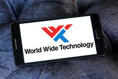 Logotipo mundial de la compañía de la tecnología foto de archivo