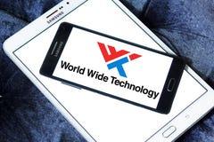 Logotipo mundial de la compañía de la tecnología foto de archivo libre de regalías