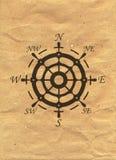 Logotipo náutico en fondo del papel de Kraft Marine Label, insignia del mar stock de ilustración