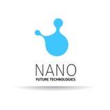 Logotipo nano - nanotecnología Diseño de la plantilla de logotipo Presentación del vector Imagen de archivo