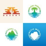 Logotipo natural de los lugares Foto de archivo