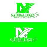 Logotipo natural de volta à natureza ilustração stock