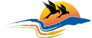 Logotipo natural del verano ilustración del vector