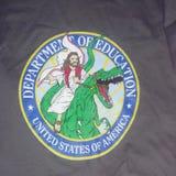 Logotipo novo do Departamento de Educação imagem de stock royalty free