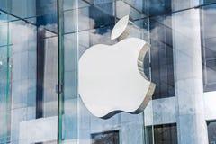 Logotipo NY de Apple Store Imágenes de archivo libres de regalías