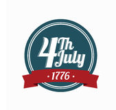 Logotipo o 4 de julho Fotografia de Stock Royalty Free