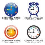 Logotipo o icono del concepto del tiempo de la gestión Foto de archivo libre de regalías