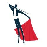 Logotipo o icono del torero Stock de ilustración