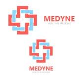 Logotipo o icono médico del vector Imagen de archivo