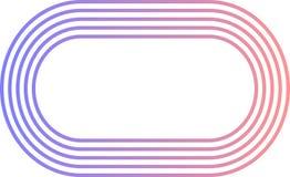 Logotipo oblongo alinhado fotos de stock royalty free
