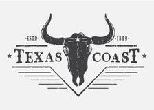 Logotipo occidental con el cráneo del toro libre illustration