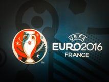 Logotipo oficial del campeonato europeo 2016 de la UEFA en Francia Imágenes de archivo libres de regalías