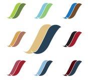 Logotipo ondulado en dos colores Foto de archivo