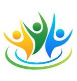Logotipo optimista de la gente Fotografía de archivo libre de regalías