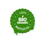 Logotipo orgánico amistoso del verde del icono del web del producto natural de Eco Fotografía de archivo libre de regalías
