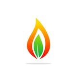 Logotipo orgánico de la bio energía de la llama Imagen de archivo libre de regalías