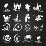 Logotipo orgánico del vino ilustración del vector