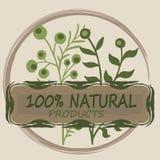 Logotipo orgánico o natural para los productos ilustración del vector