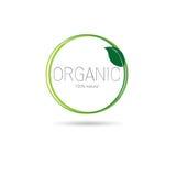 Logotipo orgânico amigável do ícone da Web do produto natural de Eco ilustração do vetor