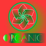 Logotipo orgânico Ilustração do vetor do sumário Foto de Stock
