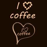 Logotipo oscuro para el café Imágenes de archivo libres de regalías