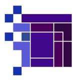Logotipo púrpura del cubo Fotos de archivo libres de regalías