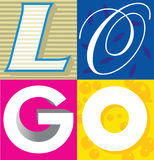 Logotipo a palavra Foto de Stock Royalty Free