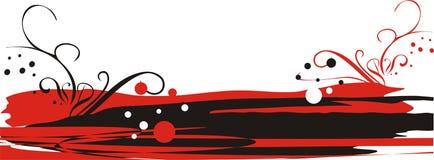 Logotipo para cartões. Vermelho e preto imagens de stock