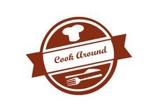 Logotipo para cozinhar a empresa ou os restaurantes ilustração do vetor