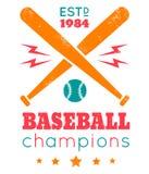 Logotipo para el béisbol Imágenes de archivo libres de regalías