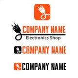 Logotipo para el ejemplo de la tienda de la electrónica foto de archivo