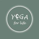 Logotipo para el estudio de la yoga Imágenes de archivo libres de regalías