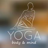 Logotipo para el estudio de la yoga Imagen de archivo