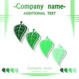 Logotipo para empresas, ilustrações Fotografia de Stock
