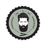 Logotipo para la peluquería de caballeros Fotos de archivo libres de regalías