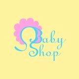 Logotipo para la tienda del bebé Fotografía de archivo