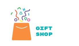 Logotipo para a loja de lembranças Fotografia de Stock