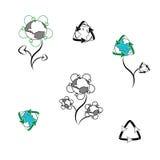 Logotipo para los productos reciclados Imagen de archivo