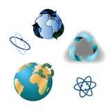 Logotipo para los productos reciclados Fotografía de archivo