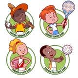 Logotipo para o acampamento dos esportes das crianças ilustração stock