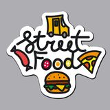Logotipo para o alimento da rua Fotos de Stock
