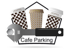 Logotipo para o café Fotografia de Stock