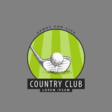 Logotipo para o clube de golfe Imagens de Stock
