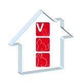Logotipo para o hospital veterinário Imagens de Stock