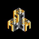 Logotipo para o mercado imobiliário Fotografia de Stock