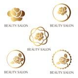 Logotipo para o salão de beleza, salão de beleza dos termas, loja de beleza Fotografia de Stock