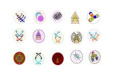 logotipo 15 para o uso dos apps Fotografia de Stock Royalty Free