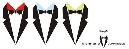 Logotipo para os fatos dos homens Fotografia de Stock
