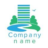 Logotipo para uma empresa de construção civil Imagem de Stock