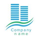 Logotipo para uma empresa de construção civil Fotos de Stock
